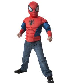 Boys Muscular Spiderman Costume Kit